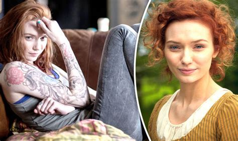 poldark s eleanor tomlinson is unrecognisable as tattooed