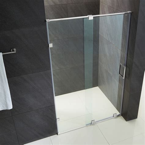 60 Inch Frameless Glass Shower Doors Vigo Vg6045 6073 Ryland 60 Inch Frameless Shower Door With 3 8 Inch Clear Glass Vg6045chcl6073