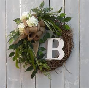 Initial Front Door Wreaths Initial Wreath Monogram Wreath Front Door By Kathyswreathshop