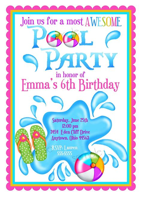 Come With Me Pool Invites by Pool Invite Home Ideas
