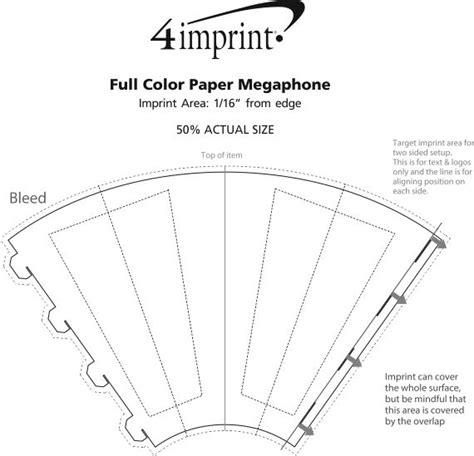 How To Make A Paper Megaphone - 4imprint color paper megaphone 125587 imprinted