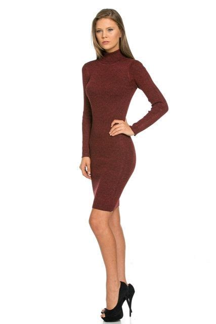 Turtle Neck Zipper Maroon burgundy sleeve turtleneck dress sotrendyish shop our great storenvy and site