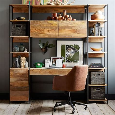 west elm industrial desk industrial modular 49 quot desk west elm