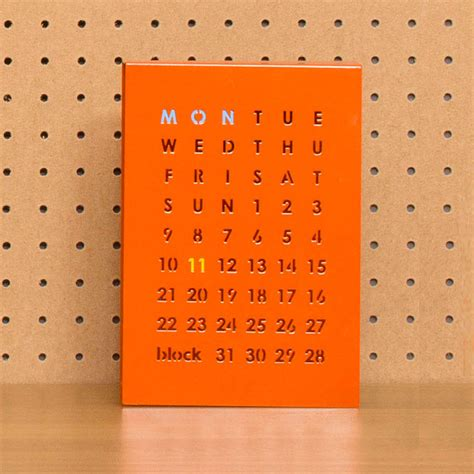 how to make a magnetic perpetual calendar magnetic perpetual calendar orange by block