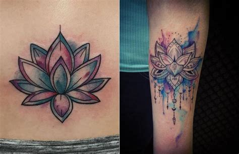 watercolor lotus tattoo tattoo collections