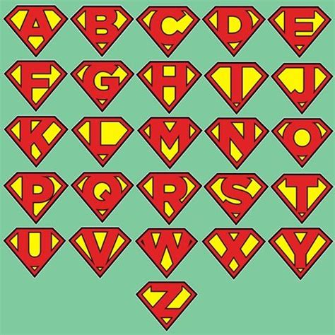 superman alphabet template superman alphabet letters shield sticker decal superman