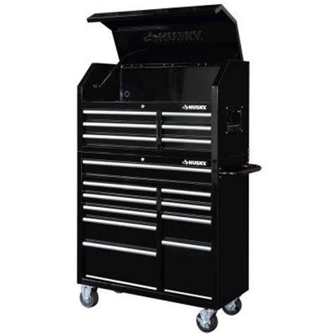 16 Drawer Tool Chest by Husky 41 In 16 Drawer Tool Chest And Rolling Tool Cabinet Set Black Hotc4116b1qes The Home Depot