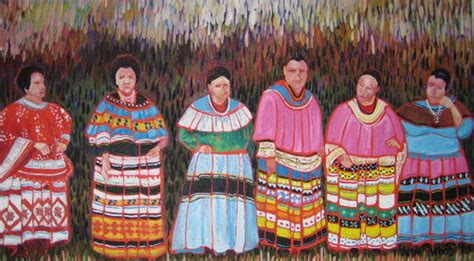 Seminole Patchwork History - miccosukee seminole patchwork sewing contest painting by