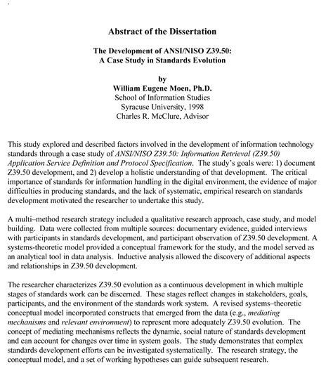 abstract of a dissertation exles dissertation abstracts writing custom dissertation