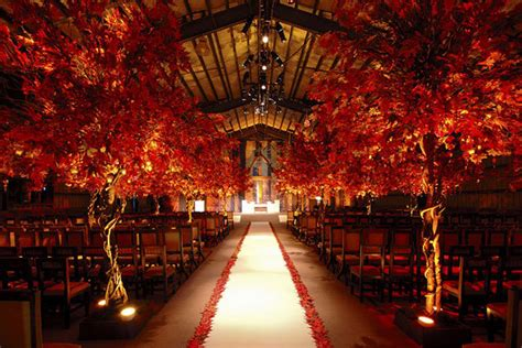 fall wedding ceremony decorations photo of the day bridalguide