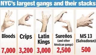 Gang sign language