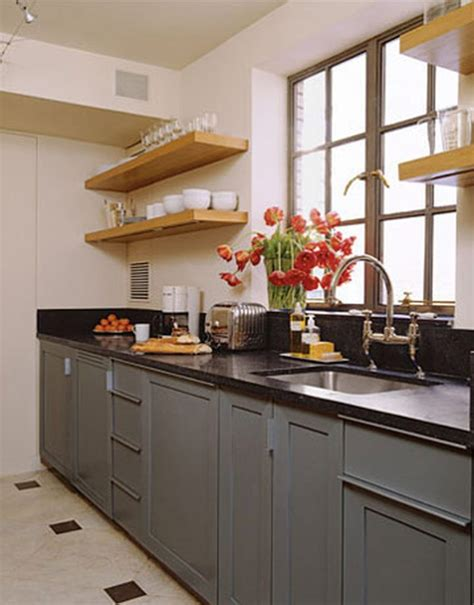 beautiful small kitchens galley kitchen white cabinets black granite wonderful home design