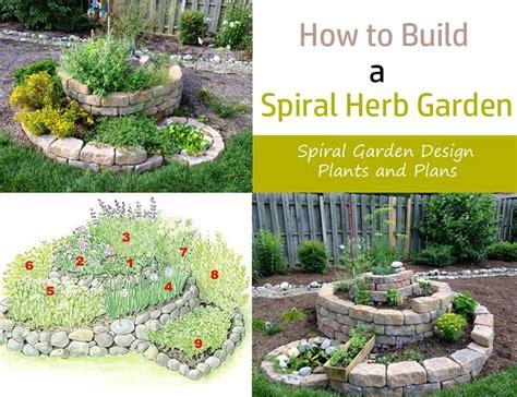 build  spiral herb garden spiral garden design