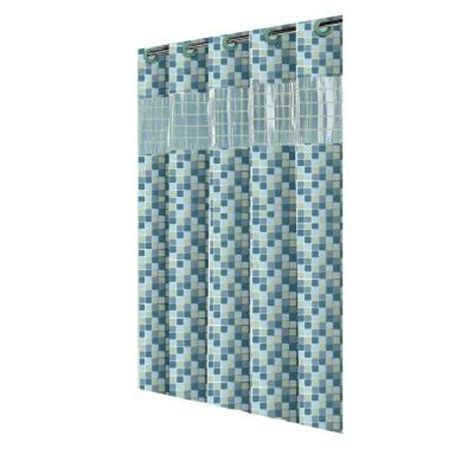 curtain vision hookless shower curtain in vision mosaic jade rbh14hh09