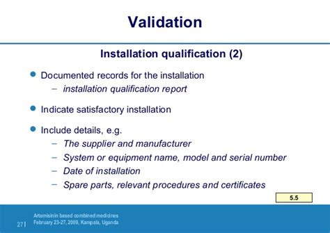 equipment installation qualification template installation installation qualification template