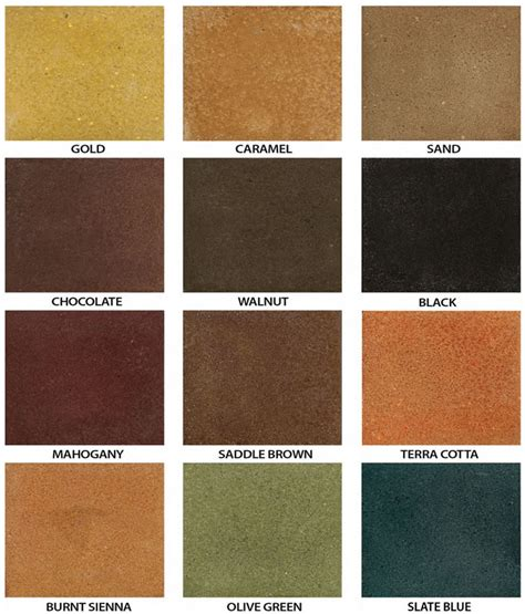 concrete stain color chart acid staining concrete cement rock coatings utah ayucar