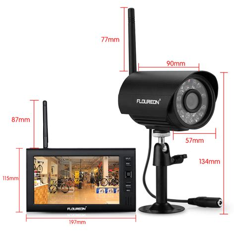 digital wireless cctv home security dvr system lcd