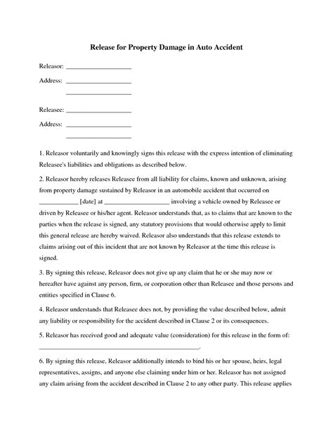 property damage release form template best photos of demand letter for insurance claim