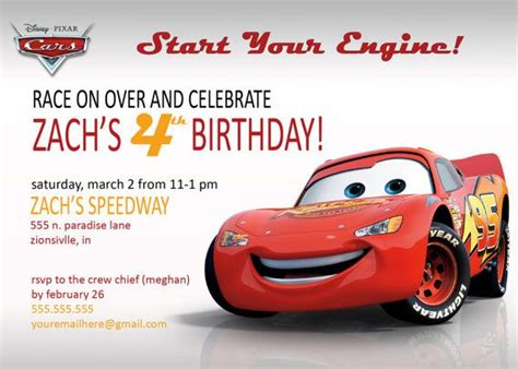 printable birthday cards cars 17 best flash mcqueen birthday party images on pinterest