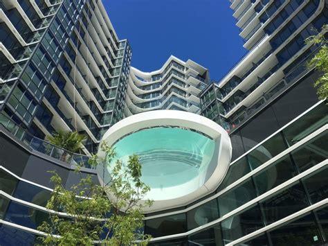 Glas Pool by One Pacific Shows Dramatic Glass Bottom Pool Urbanyvr