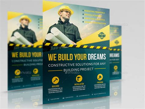 construction flyer templates free construction business flyer vol 4 by owpictures graphicriver