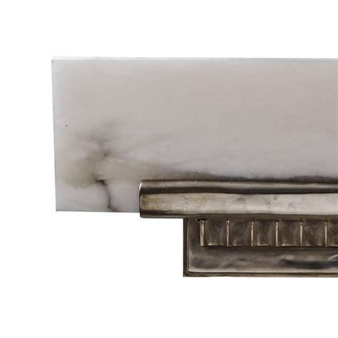 Wall Shelf Sconces by Ruhlmann Deco Antique Silver Bronze Alabaster Angled