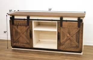 Barn Door Tv Stand Sliding Barn Door Tv Stand Dutch Craft Furniture