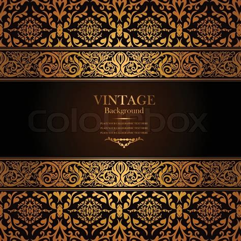 Wallpaper Classic Motif Ornament Dan Banyak Warna 6 vintage background antique gold ornament baroque frame beautiful paper card
