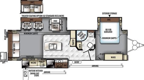 rockwood trailer floor plans forest river rockwood 8328 bs rvs for sale