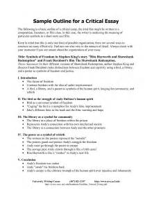 Evaluation Essay Outline by Best Photos Of Critical Essay Exles Sle Critical Analysis Essay Exles Sle