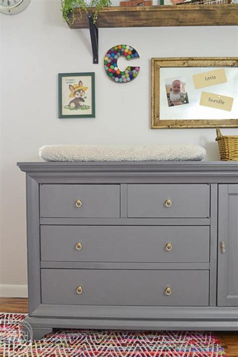 light gray dresser nursery update to a nursery dresser and changing table refresh