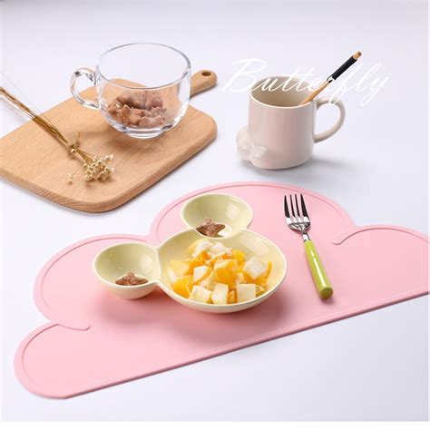 Puku Baby Silicone Place Mat 2pcs silicone insulation pad placemats baby dining table