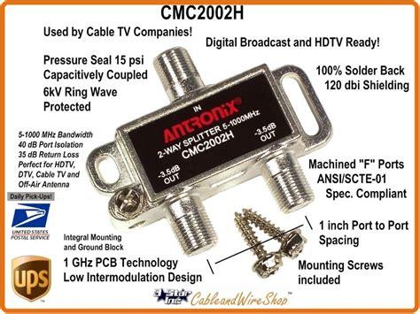 T Antena Tv 2 Way Spliter antronix cmc2002h 2 way horizontal splitter 5 1000 mhz 3 incorporated