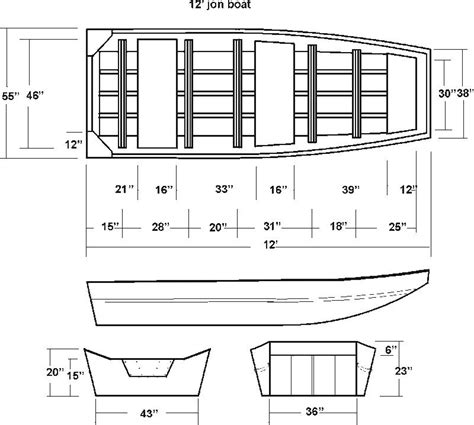 useful jon boat floor plans boat plan ideas