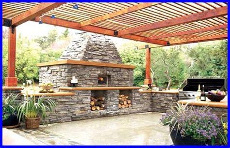 outdoor fireplace pergola kitchen outdoor entertaining