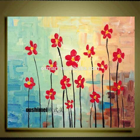 Lukisan Tangan Lukisan Bunga Kaligrafi Sks 5 pisau bunga abstrak di atas kanvas dilukis tangan gambar menggantung lukisan minyak lukisan