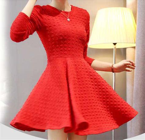 Murah Lu Natal Paling Panjang mini dress natal lengan panjang 2015 model terbaru jual murah import kerja