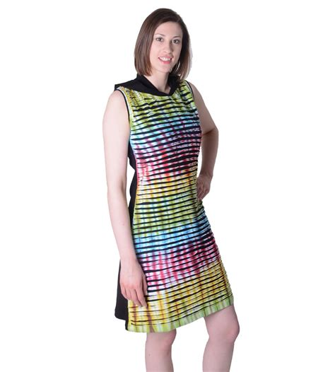 Mini Rainbow Dress Set Jacket colourful hippie mini dress tunic with hoodie im cutwork