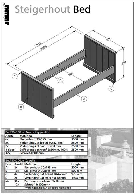 bouwtekening bed bouwtekening houten bed voordemakers nl