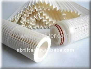Pleated Absolute Filter 10 0 22 0 45micron absolute pp pleated membrane filter manufacturers