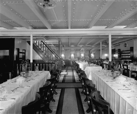 the dining room balmoral third class dining saloon on the balmoral castle 1910