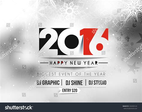 new year design poster happy new year 2016 poster design stock vector 352039124