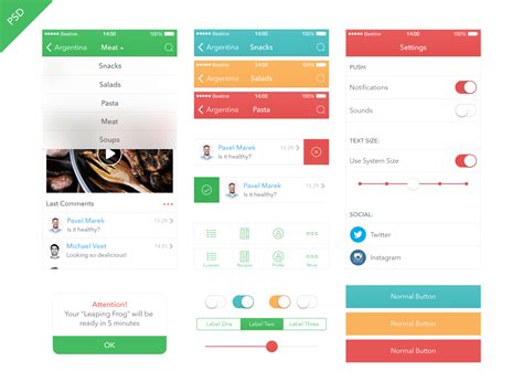 Best Resume Wordpress Theme by Food App Ui Kit Ios 7 Freebies Fribly