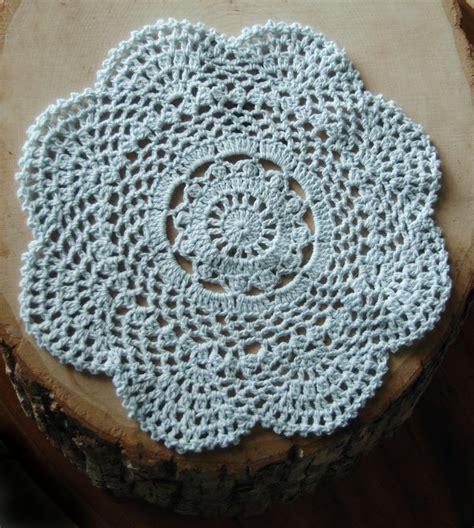 Handmade Crochet Doilies - 8 quot handmade cotton crochet doilies artic blue 2