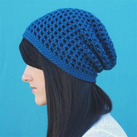 blue pattern hat slouchy ocean blue hat allfreecrochet com