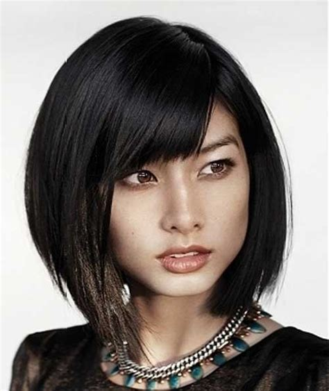 lip length bob with soft fringe front and back image popular asian short hairstyles short hairstyles 2017