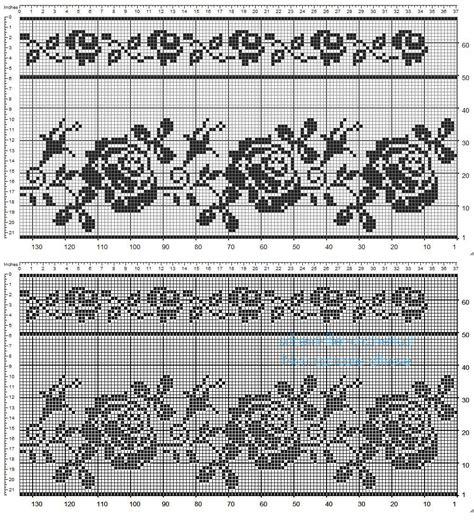 bordure all uncinetto per tende schemi bordure uncinetto per tende idea immagine home