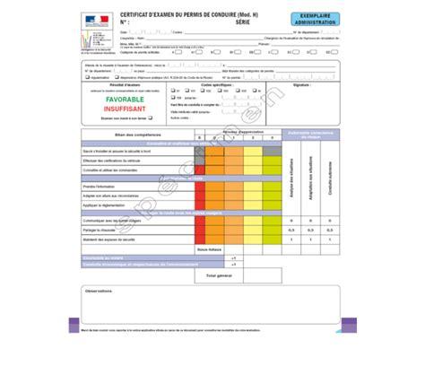 Grille Examen Permis by D 233 Couvrir La Grille D 233 Valuation Du Permis De Conduire