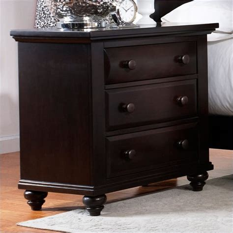 3 Drawer Black Nightstand by Broyhill Farnsworth 3 Drawer Stand In Inky Black