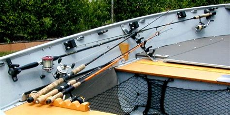 custom aluminum boat rod holders boat conversion lund ssv 18 to dream walleye boat